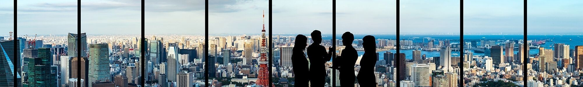 Recruitment professionals looking at Tokyo Tower