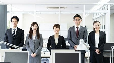 Japanese recruitment professionals smiling